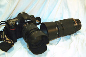 D70s  with 18-70  and a 70-300  zoom lens