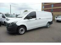 2017 MERCEDES VITO 111 CDI LWB IN WHITE WITH TAILGATE , 48000 MILES EURO 6 ' UL