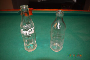 Coke and Pepsi small bottles vintage