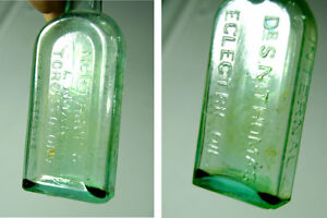 Vintage Glass Apothecary Bottles - Group of Five Medicine Bottle London Ontario image 3