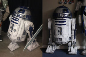 Life sized 1:1 scale 3D printed Star Wars R2-D2