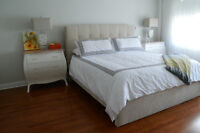 Beautiful brand new King Size bed frame with tags AND MATTRESS!!