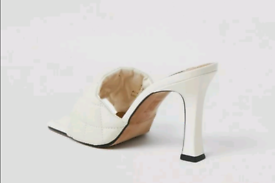LADIES SQUARE TOED MULE 5 UK..38 GOGREATWITHJEANSANDSKIRTS/SHO
