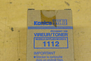 Toner Cartridge For Konica 1112 Photocopier.