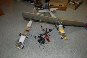 R/C planes and parts