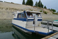 26 ft houseboat and 30ft trailer