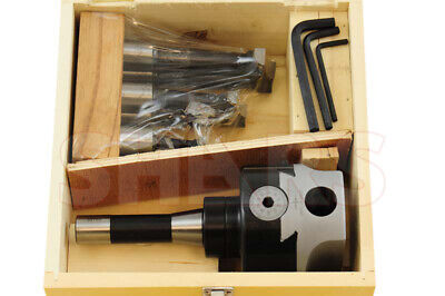 """1/"""" hole--new 4/'/' PRECISION ADJUSTABLE BORING HEAD WITH R-8 SHANK w"""