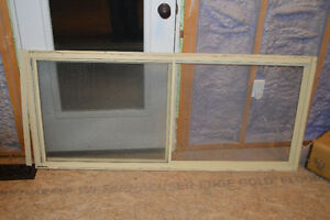 62 X 28 inch aluminum window - opens with screen