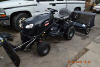 LAWN TRACTOR 24 HP ,42 DECK + SNOW BLADE +SWEEPER , CATCHER GRAS