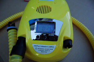 Air pump for inflatable boat with digital pressure display Downtown-West End Greater Vancouver Area image 1