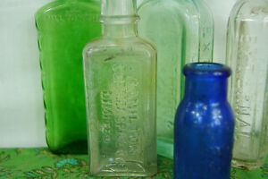Vintage Glass Apothecary Bottles - Group of Five Medicine Bottle London Ontario image 5