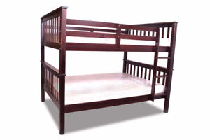 MODERN MISSION BUNKBED DOUBLE-DOUBLE