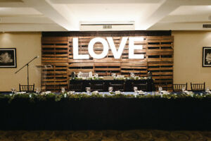 Rustic Wood Wedding Backdrop For Sale- MAKE AN OFFER