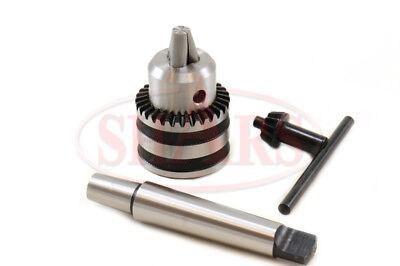 Shars 12 Drill Chuck W 1 Free Straight Mt2 Mt3 Mt4 R8 Shank Arbor New