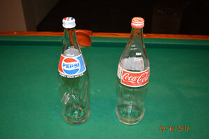 CocaCola and Pepsi 750 ml glass bottles