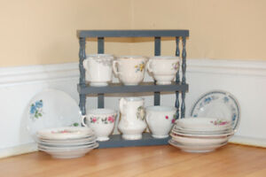 Mismatched Teacups and Saucers and Teapots