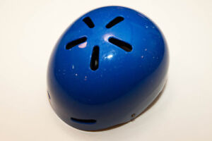 Blue children's helmet