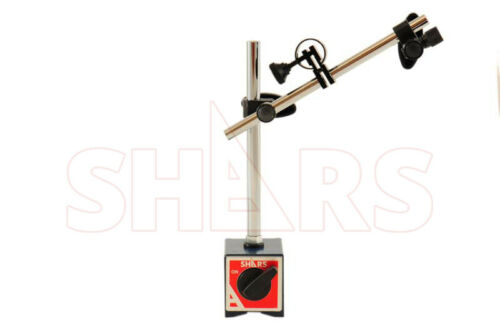 SHARS Magnetic Base with Fine Adjustment For Dial Test Indicator 135 Lbs New P]