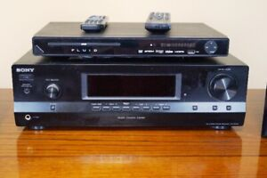Sony am/fm receiver/amplifier with speakers