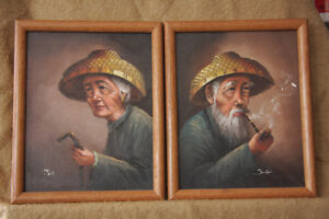 Pair of Asian Portraits