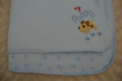 Koala Baby My Puppy Baby Blanket Blue Red Paw Prints Dog Security Lovey Fleece
