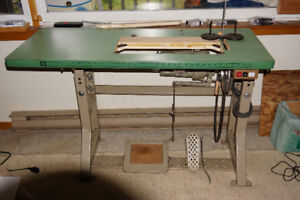 industrial sewing machine table c/w