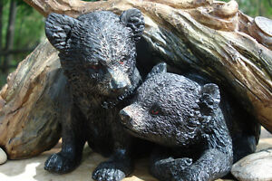 3-D Table Sculpture, Hand Crafted Baby Bears Belleville Belleville Area image 3