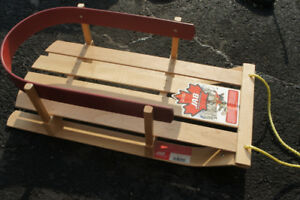 Baby/toddler wooden sled