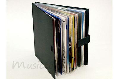 LP Mappe, Album für 12 Vinyl Schallplatten zum Blättern, Plastik schwarz