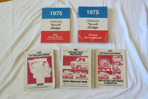 CHRYSLER and FORD SHOP MANUALS