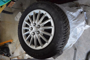 Goodyear snow tires on rims