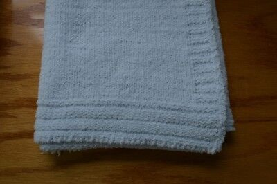 Crib Clouds Light Blue Chenille Baby Blanket by Colorado Clothing Security Lovey ()