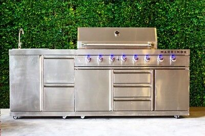Stainless Steel outdoor kitchen grill island with sink. Propane and natural gas!