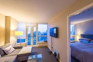 Furnished 1 bdrm suite at Vancouver Downtown from Jul 1st!