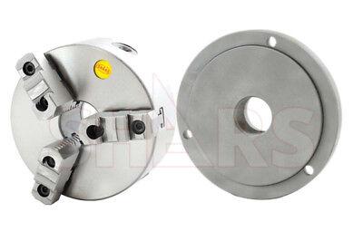 Shars 6 3 Jaw 2 Pcs Reversible Self Lathe Chuck W Cert Tir M39x4 Back Plate