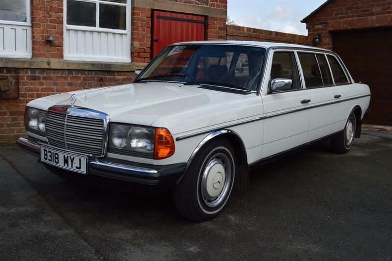 Mercedes 300d w123 1985 8 seater 4 door limousine in white for 1985 mercedes benz 300d