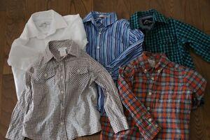 5 chemises pour garçon