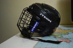 Certified Itech Hockey Helmet and Face Guard - Small