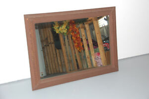 Solid hardwood frame mirror