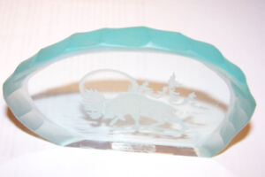 Glass Etched Paper Weight (Made in Canada)