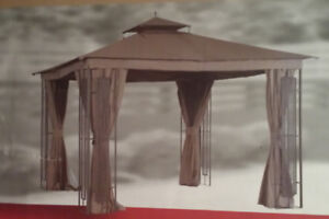 NEW 10x10 Gazebo with curtains and flyscreen