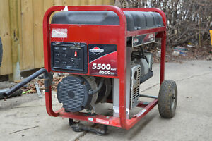 5500 Watt Briggs & Straton Generator (Gas) 8500 starting watts.