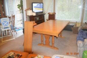 Roxton Dining table & six high back chairs