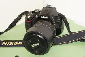 Nikon D5100 Camera body and optional 18-105mm lens