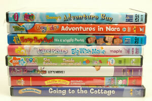 lot of 8 Children's Dvds Wiggles Care Bears Hello Kitty