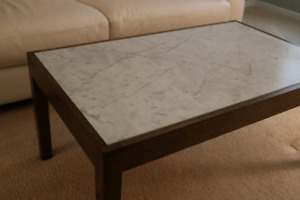 Marble and Oak coffee table