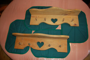 Handcrafted Wood Wall Shelf (Set of 2) - NEW