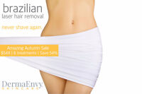 Amazing Autumn Laser Hair Removal Sale - Save 29-54%
