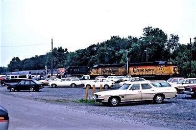 B&O 4148 @ BRUNSWICK,MD_JULY 1986_ORIGINAL TRAIN SLIDE