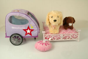 American Girl Doll Pet Trailer Honey Dog BUNNY